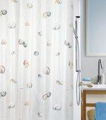 Штора для ванной Spirella Escargot, 180x200см, текстиль, бежево-серый 1040773