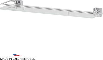 Полка для ванной с ограничителем, 50см, стекло FBS ESP 015