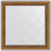 Зеркало Evoform Exclusive-G 1070x1070 с гравировкой, в багетной раме 93мм, бронзовый акведук BY 4455
