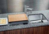 Кухонная мойка без крыла, нержавеющая сталь полированная Blanco SUPRA 400-U 518201