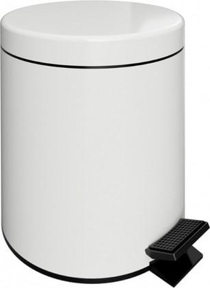 Ведро для мусора с педалью Bemeta White 5л, белое 104315014