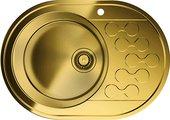 Кухонная мойка с правым крылом, нержавеющая сталь, латунь Omoikiri Kasumigaura 65-AB-L 4993068