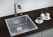Кухонная мойка без крыла, с клапаном-автоматом, нержавеющая сталь зеркальной полировки Blanco Andano 400-IF 518312
