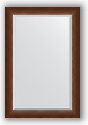 Зеркало 62x92см с фацетом 25мм в багетной раме орех Evoform BY 1177