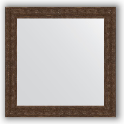 Зеркало в багетной раме 66x66см мозаика античная медь 70мм Evoform BY 3145