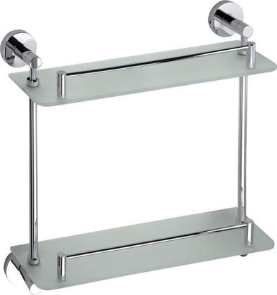 Полка для ванной, двойная стеклянная 400мм Bemeta Omega 104202122