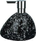Дозатор для жидкого мыла Spirella Etna Glitter настольный, полирезин, чёрный 1016528