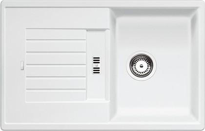 Кухонная мойка оборачиваемая с крылом, гранит, белый Blanco Zia 45 S 514726