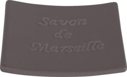 Мыльница фарфоровая серая Spirella Savon De Marseille 4006575