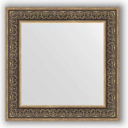 Зеркало в багетной раме 73x73см вензель серебряный 101мм Evoform BY 3160