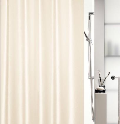 Штора для ванны 180x200см текстильная, шампань Spirella SHINE 1015640