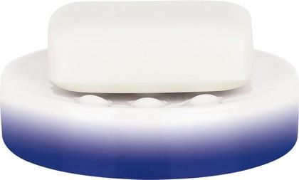 Мыльница фарфоровая синяя Spirella Tube Gradient 1017966