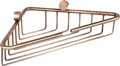 Полочка-решетка угловая 21x21x5см, золото TW Bristol TWBR534oro