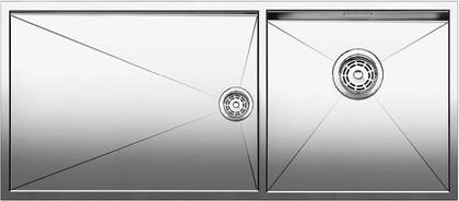 Кухонная мойка основная чаша справа, без крыла, нержавеющая сталь зеркальной полировки Blanco Zerox 400/550-Т-U 517263