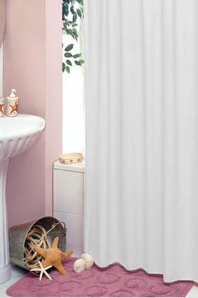 Штора для ванны 180x200см белая с кольцами 12шт Grund TAVERE 309.98.032