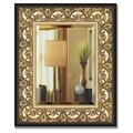 Зеркало 50x60см с фацетом 30мм в багетной раме барокко золото Evoform BY 1373