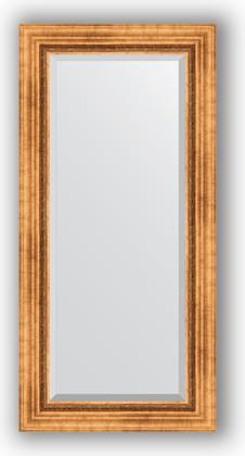 Зеркало с фацетом в багетной раме 56x116см римское золото 88мм Evoform BY 3490
