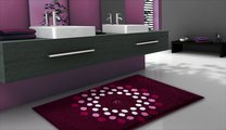 Коврик для ванной 60x50см фиолетовый с кристаллами Сваровски Grund CRYSTAL BLOSSOM 3344.60.022