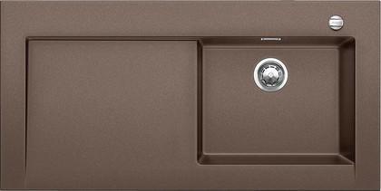 Кухонная мойка крыло слева, с клапаном-автоматом, гранит, кофе Blanco Modex-M 60 518335