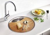 Кухонная мойка без крыла, нержавеющая сталь полированная Blanco Rondosol-IF 514647