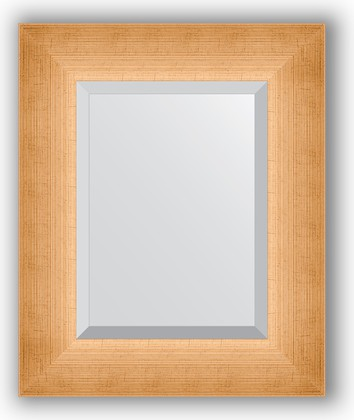 Зеркало 47x57см с фацетом 30мм в багетной раме травлёное золото Evoform BY 1363