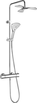 Душевая система с термостатом поворотная, хром Kludi FIZZ 6709605-00