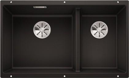 Кухонная мойка Blanco Subline 430/270-U, отводная арматура, антрацит 523151