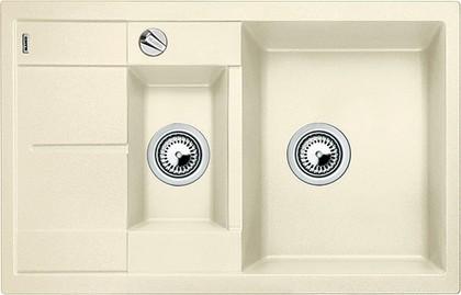Кухонная мойка оборачиваемая с крылом, с клапаном-автоматом, гранит, жасмин Blanco METRA 6 S COMPACT 513469