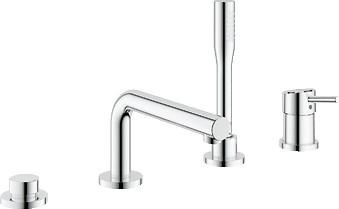 Смеситель встраиваемый однорычажный на 4 отверстия на бортик ванны с ручным душем и без встраиваемого механизма, хром Grohe CONCETTO 19576001