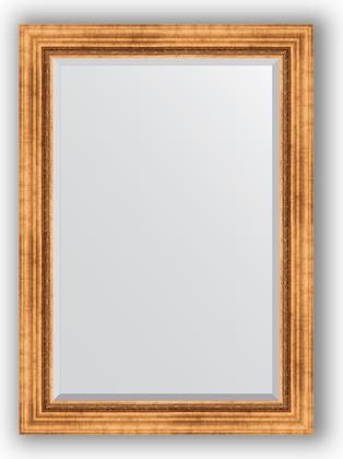 Зеркало с фацетом в багетной раме 76x106см римское золото 88мм Evoform BY 3464