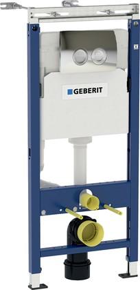 Монтажный элемент Geberit Duofix для подвесного унитаза, 112см, смывная клавиша Delta21, хром 458.122.21.1