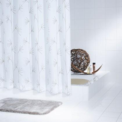 Штора для ванной Grund Palm, 180x200см, полиэстер, бежевый 858.98.000