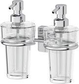 Дозатор для жидкого мыла Ellux Avantgarde настенный, прозрачное стекло, хром AVA 007/ELU 003