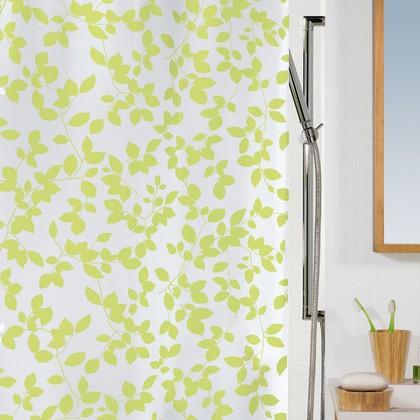 Штора для ванны 180x200см зеленая Spirella BLATT 1008184