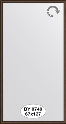 Зеркало 67x127см в багетной раме орех Evoform BY 0740