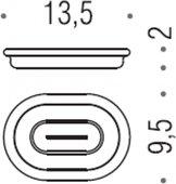 Запасная стеклянная чаша для мыльницы Colombo LUNA B0151