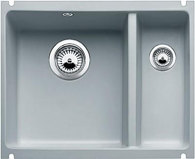 Кухонная мойка без крыла, с клапаном-автоматом, керамика, серый алюминий Blanco Subline 350/150-U PuraPlus 514528