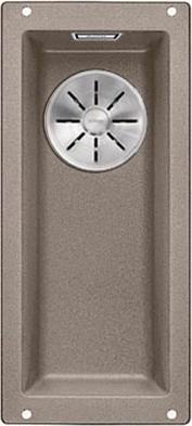 Кухонная мойка Blanco Subline 160-U, без крыла, отводная арматура, гранит, серый беж 523403