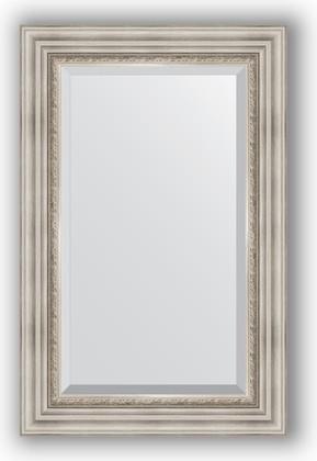 Зеркало 56x86см с фацетом 30мм в багетной раме римское серебро Evoform BY 1237