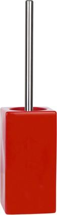 Ёрш с керамической красной подставкой Spirella Quadro 1013648