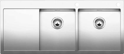 Кухонная мойка чаши справа, крыло слева, с клапаном-автоматом, нержавеющая сталь зеркальной полировки Blanco Claron 8 S-IF/А 514003