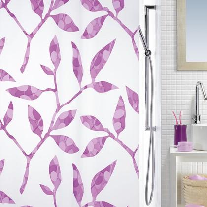 Штора для ванны 180x200см сиреневая Spirella CLEA 1013050