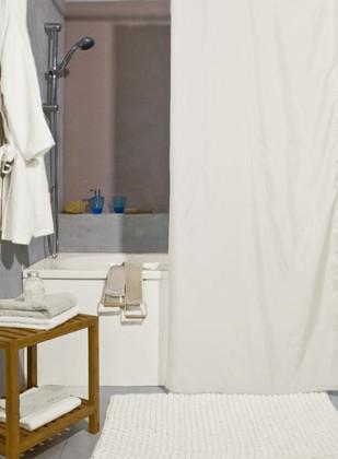 Штора для ванной комнаты 120x200см текстильная белая Spirella ATLAS 4005719