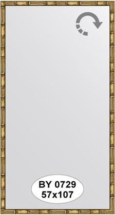 Зеркало 57x107см в багетной раме золото-бамбук Evoform BY 0729