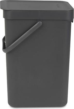 Ведро для мусора Brabantia Sort&Go, 12л, серый 109805