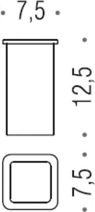 Запасной стеклянный стаканчик Colombo LULU B6252
