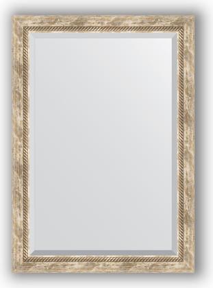 Зеркало с фацетом в багетной раме 73x103см прованс с плетением 70мм Evoform BY 3459