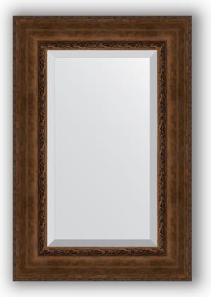 Зеркало с фацетом в багетной раме 62x92см состаренная бронза с орнаментом 120мм Evoform BY 3429