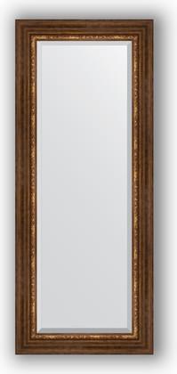 Зеркало с фацетом в багетной раме 56x136см римская бронза 88мм Evoform BY 3517
