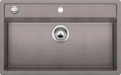 Кухонная мойка без крыла, с клапаном-автоматом, гранит, алюметаллик Blanco Dalago 8 516630